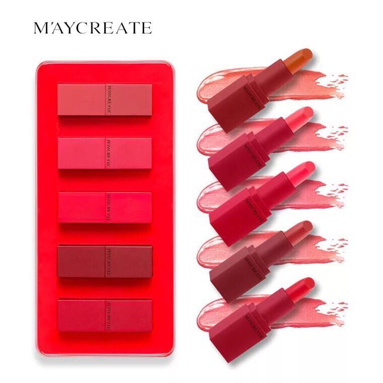 Set 5 son dưỡng ẩm Maycreate tốt nhất