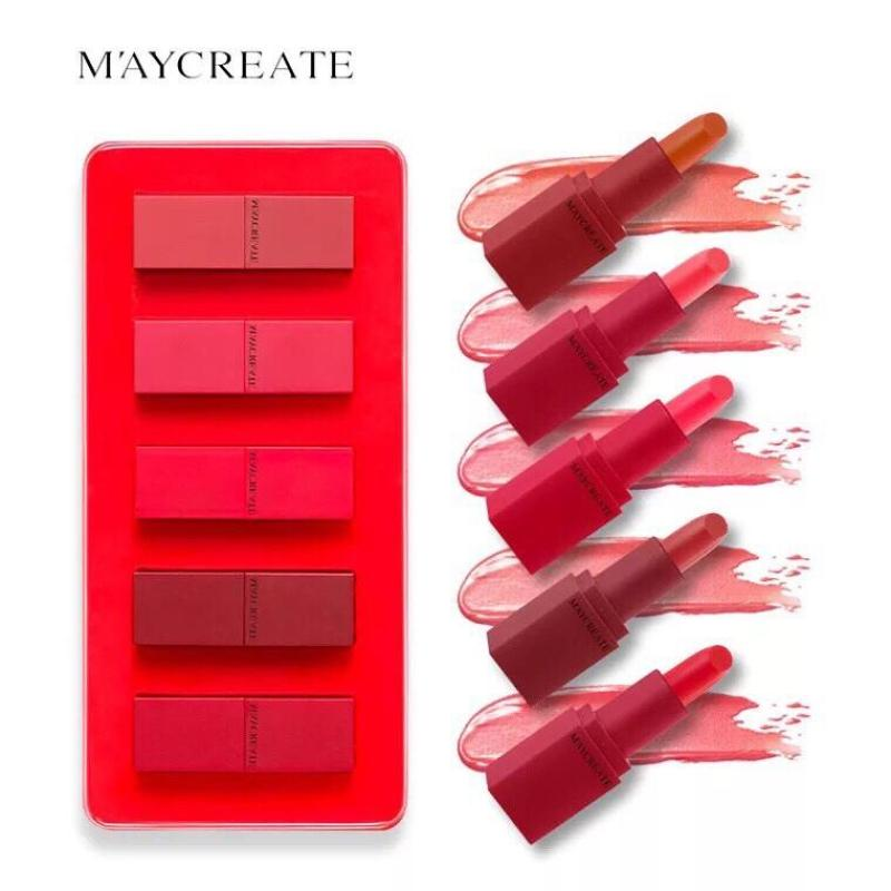 Set 5 son dưỡng ẩm Maycreate