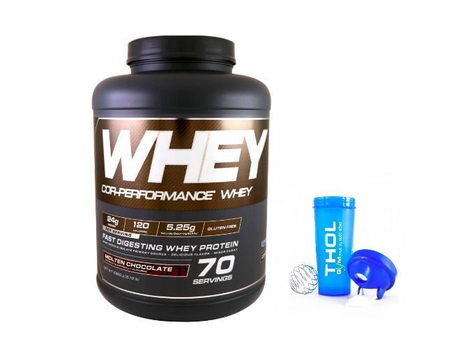 Thực phẩm bổ sung giúp tăng cơ  Cor - performance Whey Molten Chocolate + tặng bình lắc nhập khẩu