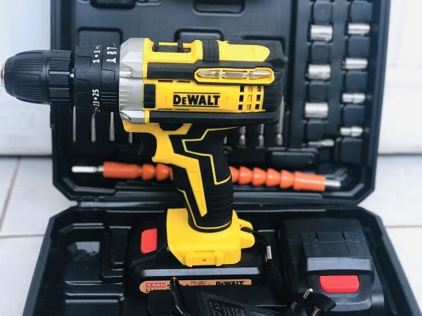 Bộ máy khoan pin  36v DEWALT có BÚA (kèm 2pin và nhiều phụ kiện)