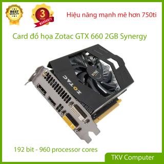 Card đồ họa Zotac GTX 660 Synergy 2GB 192bit - Mạnh hơn 750ti 17%, Chiến tốt LOL, FF04, GTA 5 thumbnail
