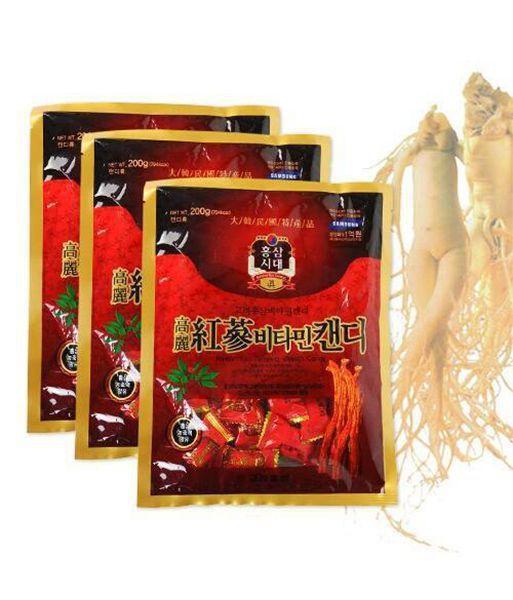 [HCM]Kẹo Hồng Sâm Vitamin Hàn Quốc Gói 200 Gram - Kẹo Sâm Hàn Quốc 200gram