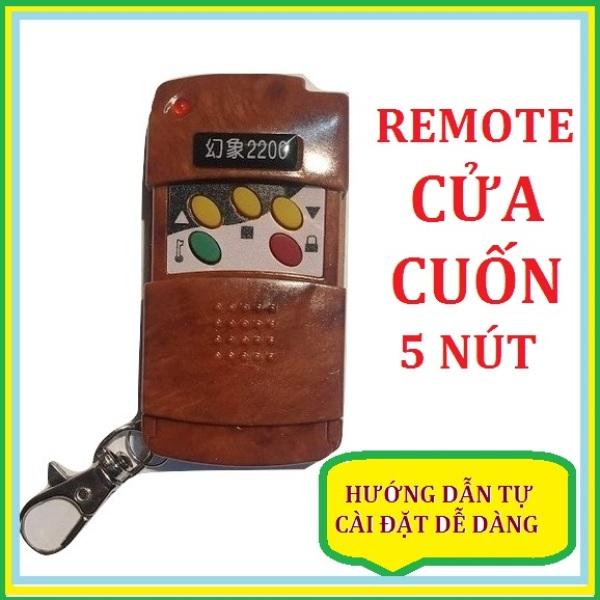 Remote Điều Khiển Cửa Cuốn 2200 - mã gạt - 5 nút bấm ( Tự cài đặt dễ dàng theo khiển gốc )