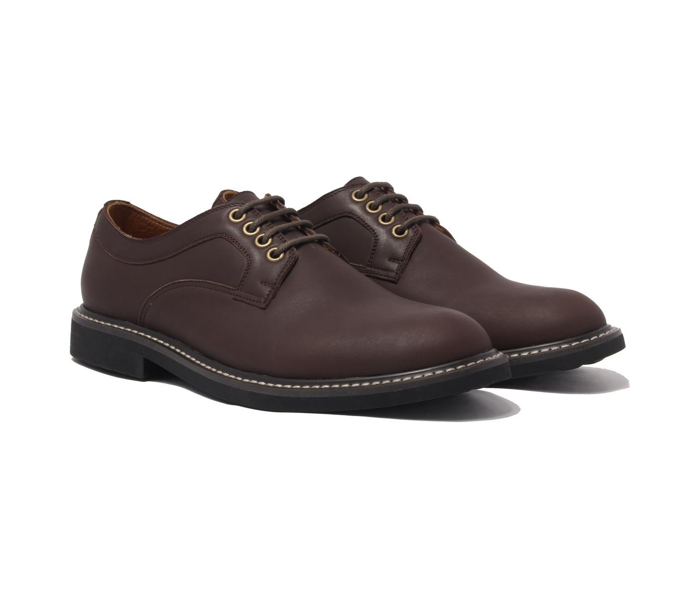 Giày tây cao cấp chính hãng BANULI, kiểu giày retro B1PD2M0 da bò Veg - Tan Ý, đế cao su tự nhiên