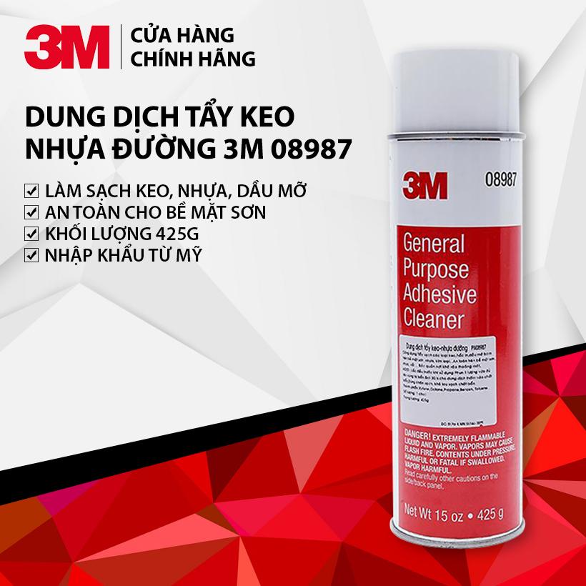 Dung Dịch Tẩy Keo Nhựa đường 3M 08987 Có Giá Tốt