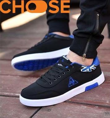 (Hàng Mới Về)Giày Lười Nam Màu Đỏ Đen/Giày Mọi Sneaker  Họa Tiết Tam Giác Phá Cách 0601 Có Giá Ưu Đãi