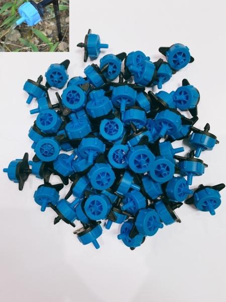 50 đầu tưới nhỏ giọt bù áp 4lít màu xanh dương tưới gốc