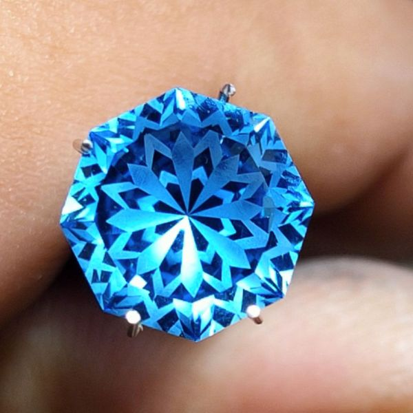 Mặt nhẫn Blue Topaz - Topaz xanh