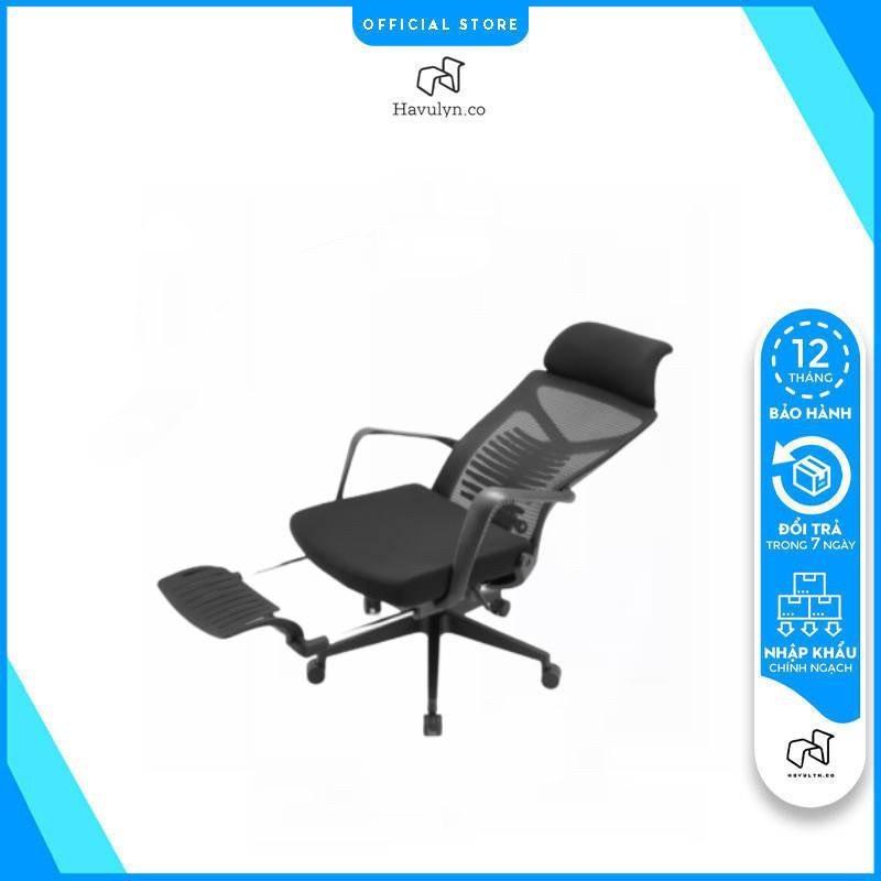 [TẶNG 50K]Ghế văn phòng ergonomic công thái học Ngả Lưng Thư Giãn Chân Gác HAVULYN-HS175: Ghế công thái học, ghế ergonomic giá rẻ