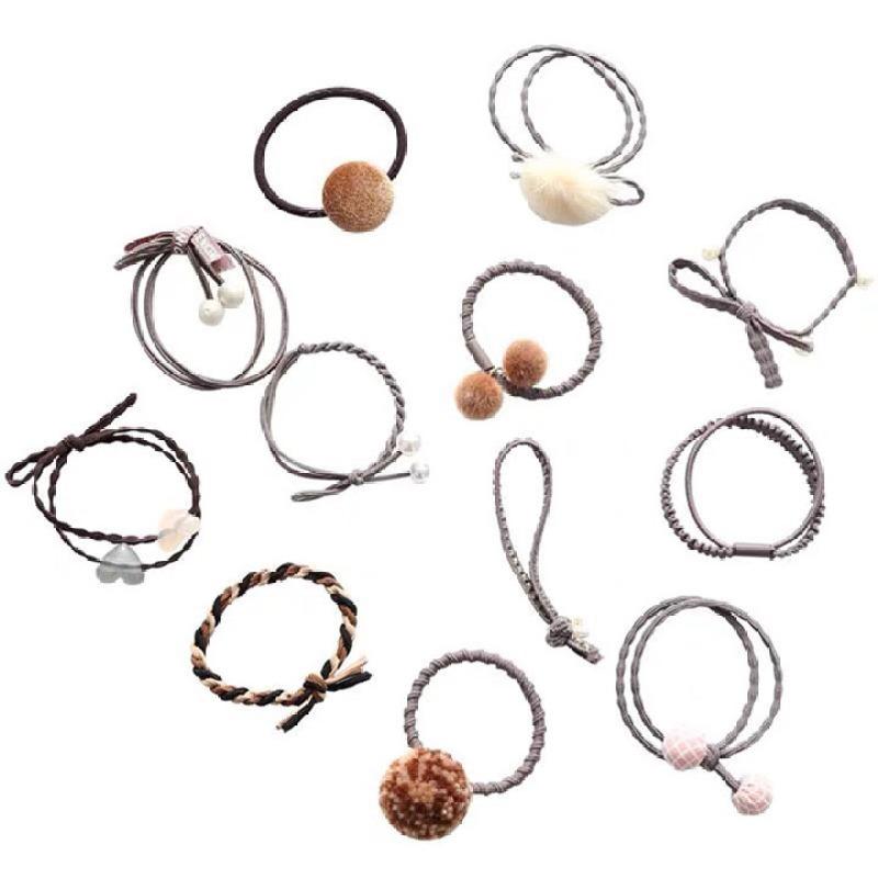 Sét 12 dây thun cot tóc, cho mái tóc đẹp mỗi ngày, chất thun mềm co giãn tốt, cố định được tóc gọn gàng mà không làm đau tóc, giảm rụng tóc. cao cấp