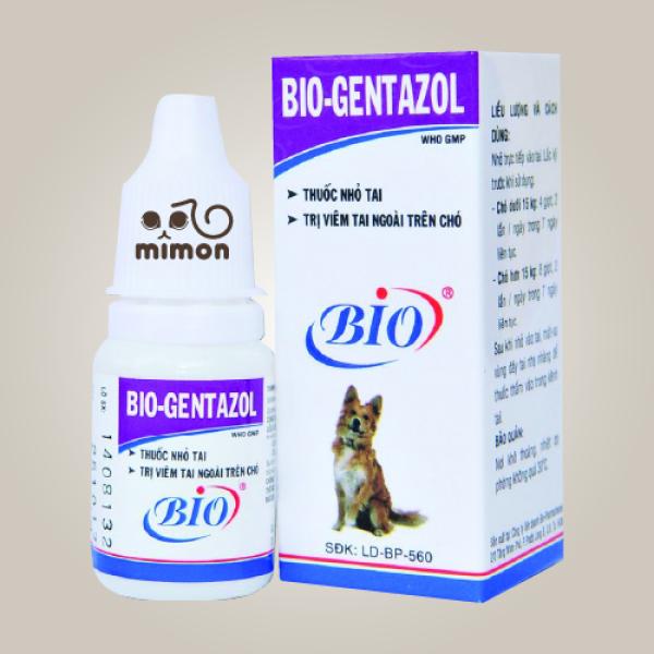 Dung Dịch Nhỏ Tai Chó Mèo - Bio Gentazol 10Ml