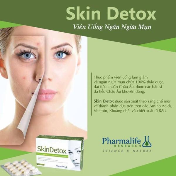(Hộp 45 viên) Viên uống làm giảm và ngăn ngừa mụn Skin Detox