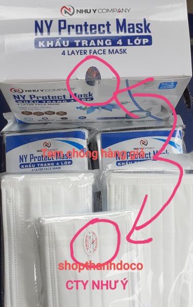 KHẨU TRANG Y TẾ ( NY PROTECT MASK ) 4 LỚP (1 HỘP 50 CÁI MÙA TRẮNG)