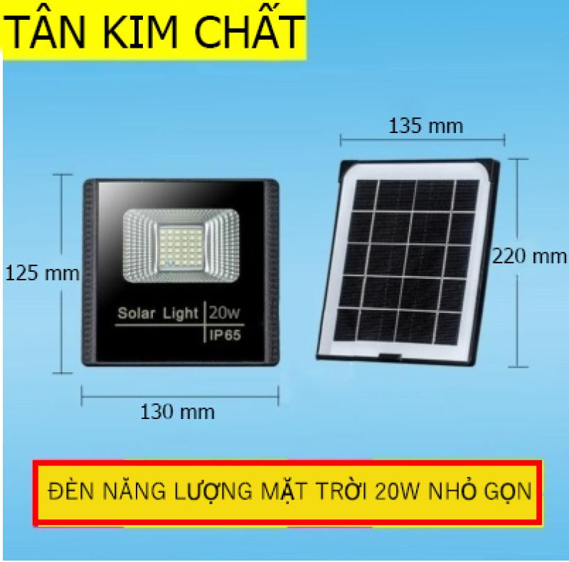 [Không tốn điện] Đèn năng lượng mặt trời, đèn pha led 20W, chống nước, bảo hành 12 tháng