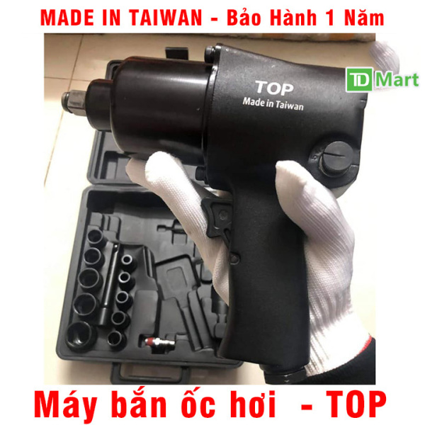 Máy Bắn Ốc Hơi 2 búa TOP - Made In Taiwan, Bảo Hành 1 Năm tặng bộ đầu khẩu cao cấp