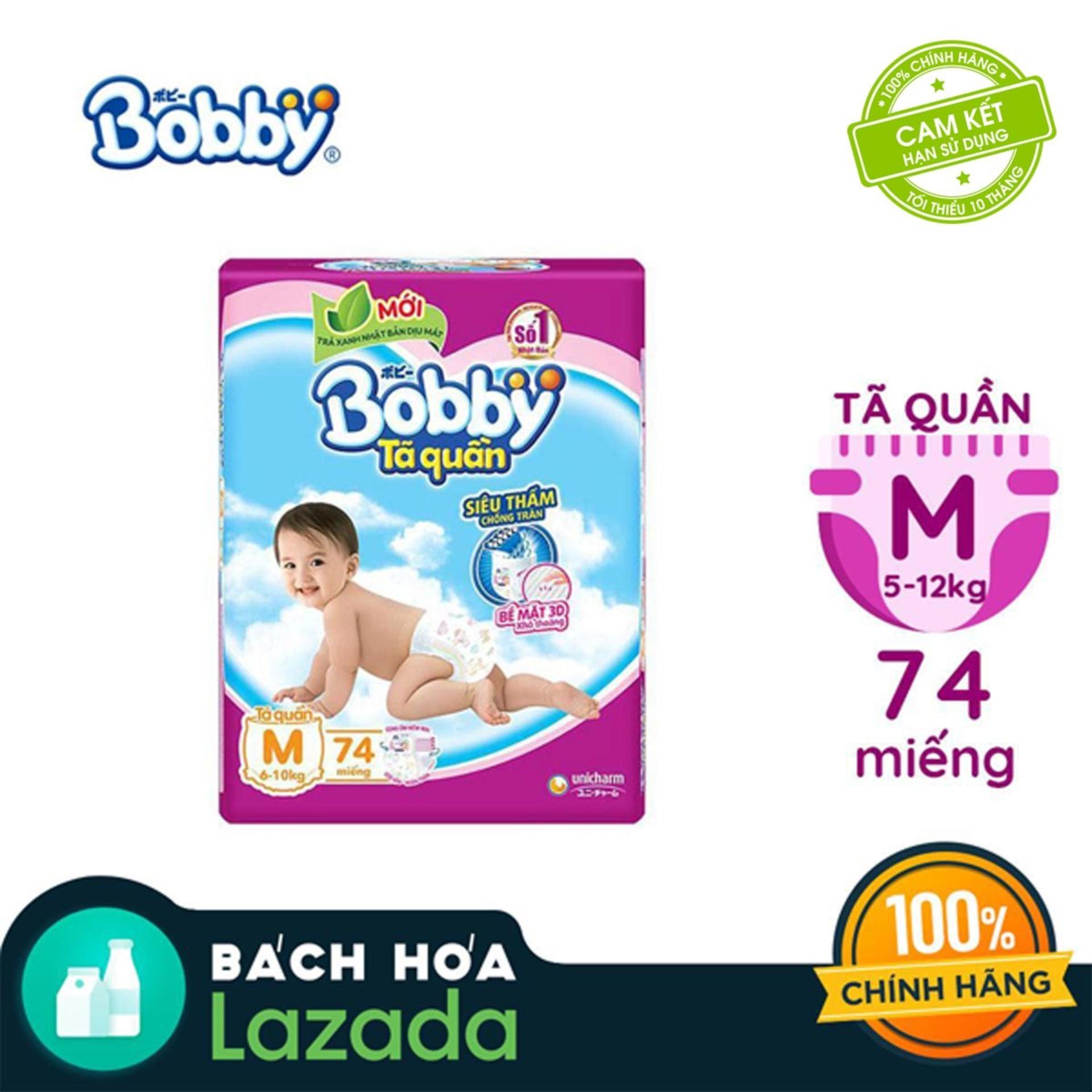 [Tiết Kiệm] Tã/Bỉm quần Bobby (hương trà xanh) gói siêu...