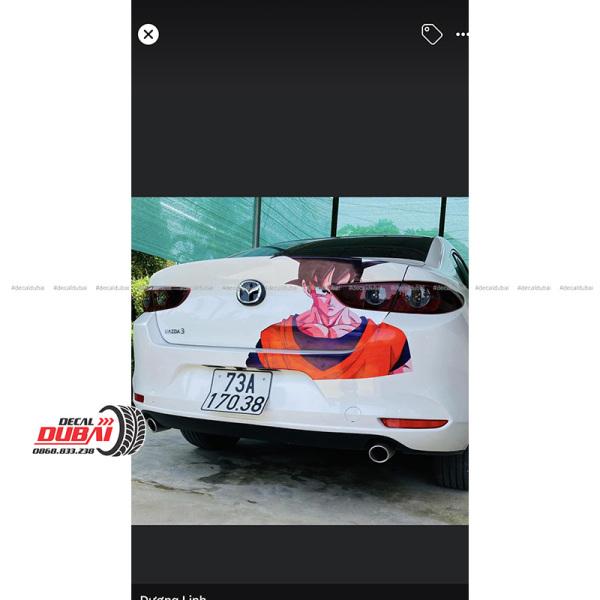 Tem Dán Mazda 3 Hoạt Hình Songoku Cốp Sau Đuôi Xe