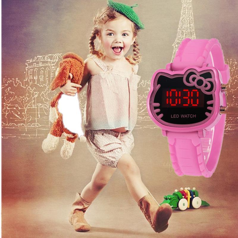 Đồng hồ điện tử thời trang cho trẻ em hình mèo cao cấp bán chạy