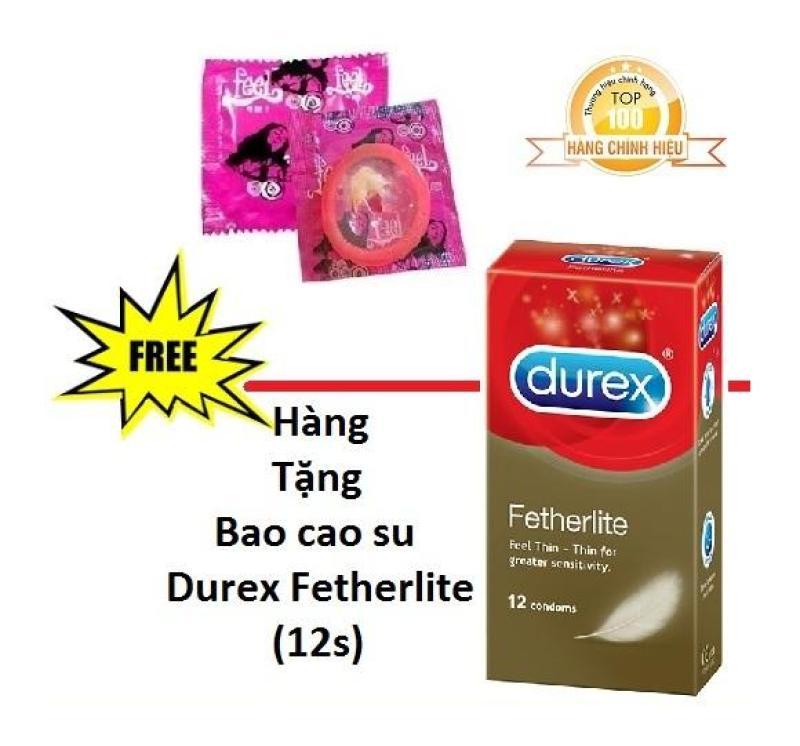 [Mua 1 Tặng 1] Bao cao su Feel 4in1 (1Bcs) + Tặng 1 Hộp Bao cao su Durex Fetherlite 12s - Hãng phân phối chính thức cao cấp