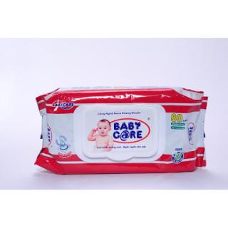 Set 5 gói Khăn ướt baby ko mùi 80 tờ thumbnail