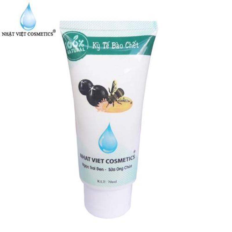 Gel tẩy kỳ tế bào chết da mặt ngọc trai đen, sữa ong chúa 70ml giá rẻ