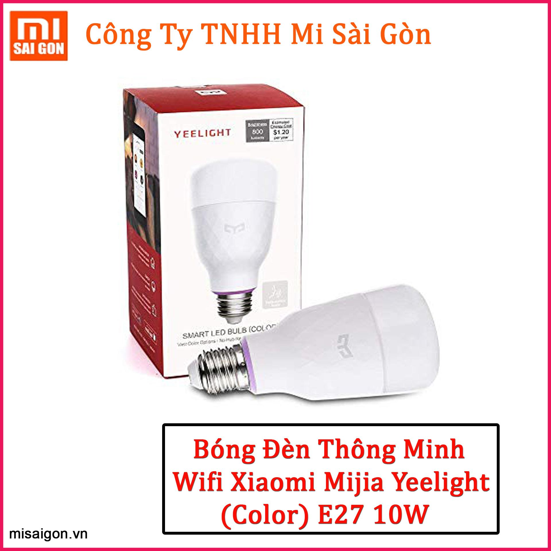 Bóng Đèn Wifi Xiaomi Mijia Yeelight (Color) E27 10W ( 2018 ) - Xiaomi Yeelight Smart LED Build (Color)