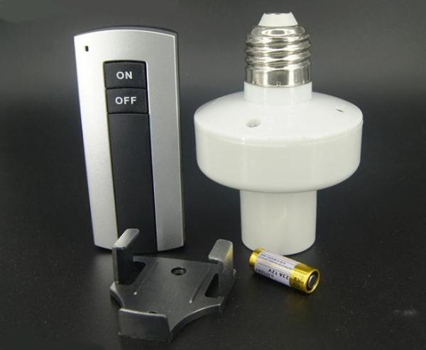 Đuôi đèn điều khiển từ xa E27, Đui đèn điều khiển bật tắt từ xa, Đui đèn E27 bật tắt từ xa, đui xoáy