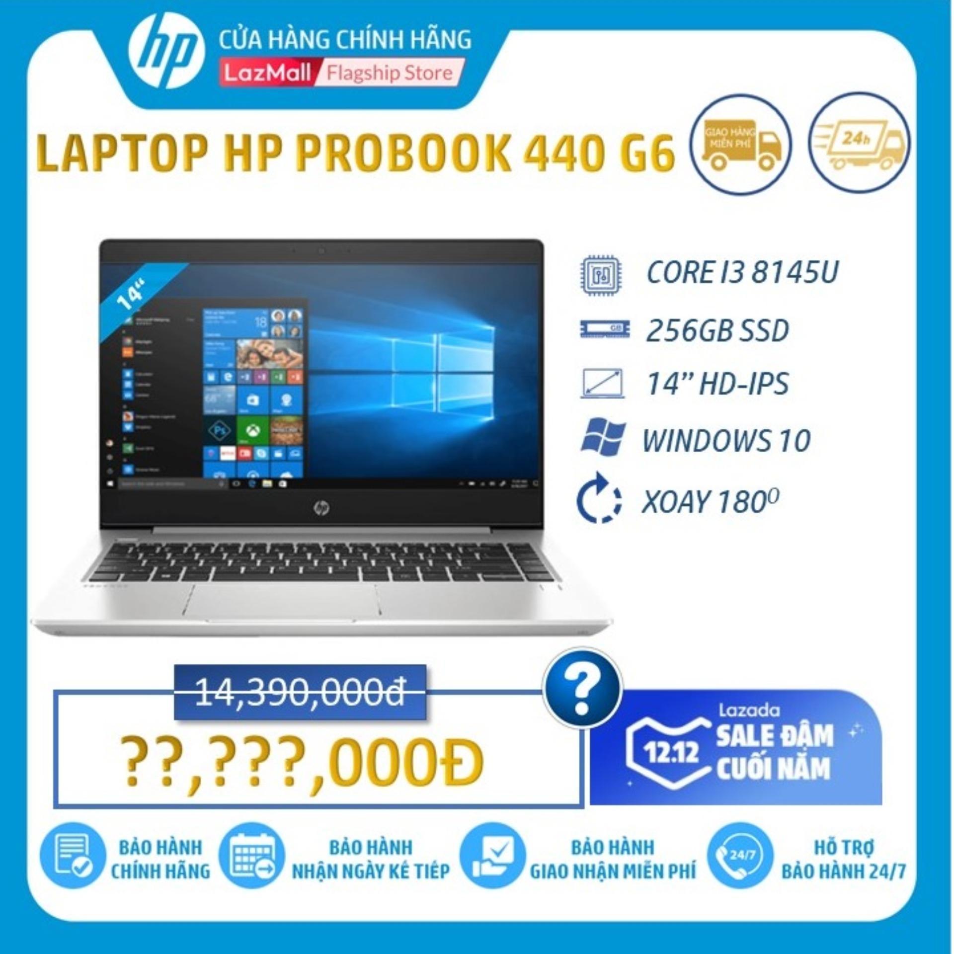 Laptop HP ProBook 440 G6 (Core I3-8145U/4GB RAM DDR4/256GB SSD/Intel UHD Graphics/14 HD/Win10Home)_8GV28PA - Hàng Chính Hãng Siêu Ưu Đãi tại Lazada