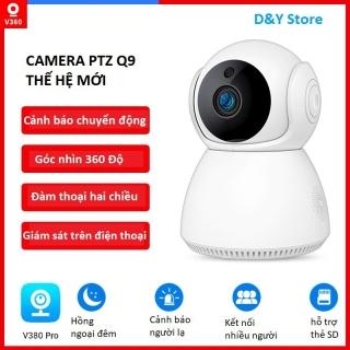 Camera Wifi V380Pro-Q9 thế hệ mới, cảm biến 2MP hình ảnh săc nét, quan sát đêm rõ nét, đàm thoại 2 chiều, theo dõi chuyển động, cảnh báo người lạ thumbnail