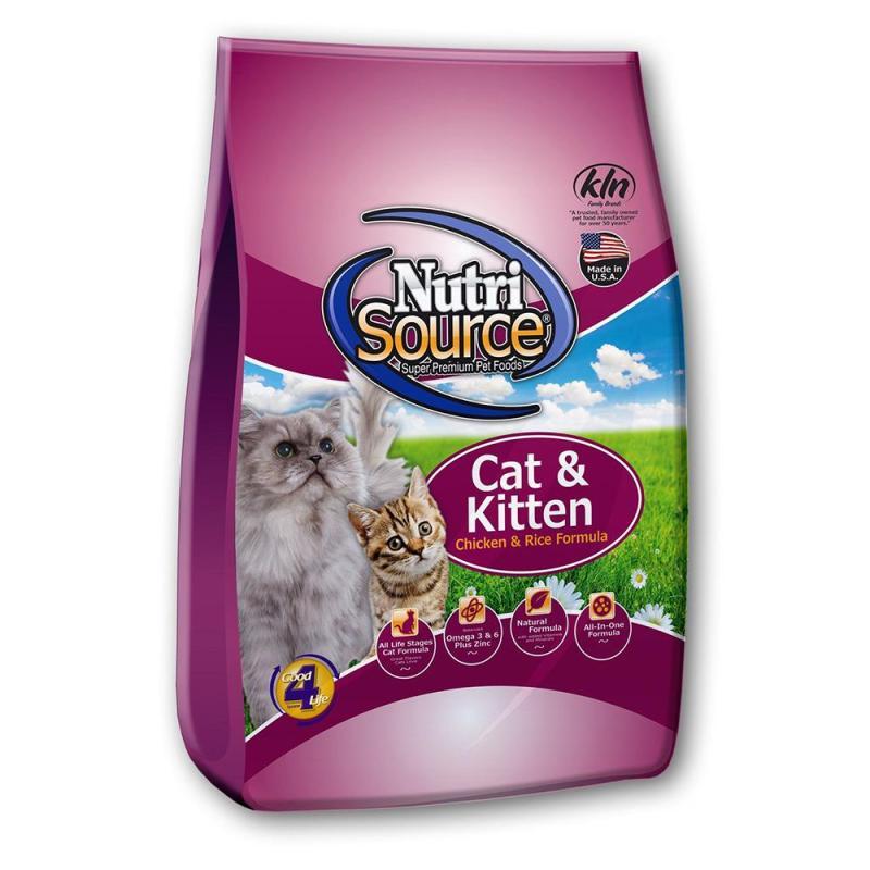 Thức ăn cho mèo và mèo con NutriSource Chicken and Rice