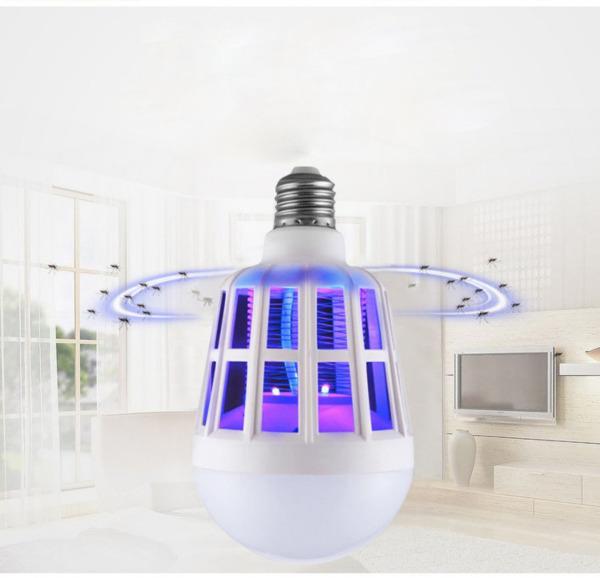 Bóng đèn LED chiếu sáng kiêm đèn bắt muỗi và côn trùng / đuổi muỗi diệt muỗi - Phiên Bản 2018