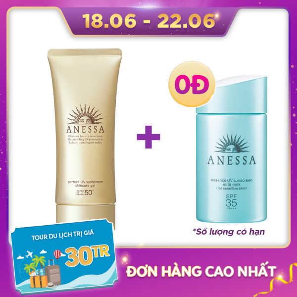 Gel chống nắng dưỡng ẩm chuyên sâu bảo vệ hoàn hảo Anessa Perfect UV Sunscreen Skincare Gel - SPF50+ PA++++ - 90g