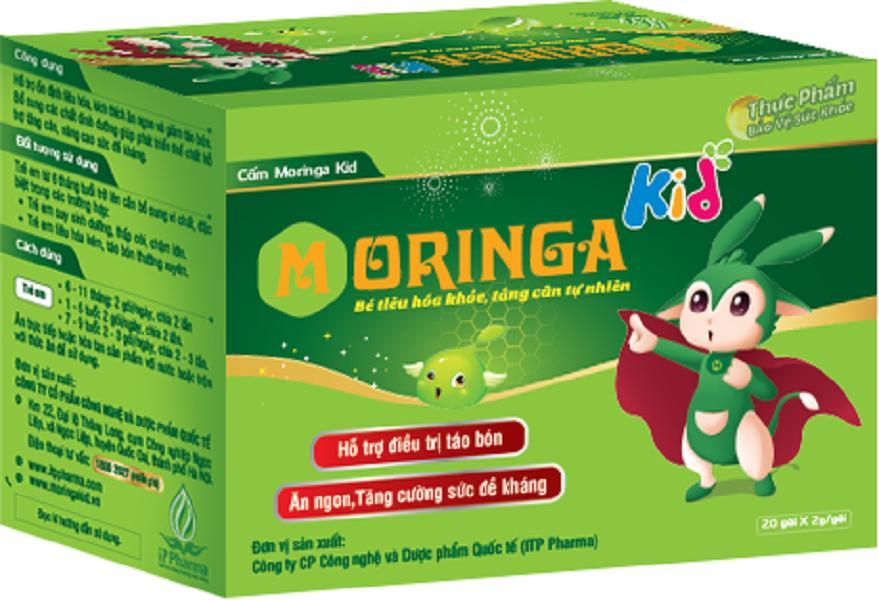 Thực Phẩm Chức Năng Cốm Chùm Ngây Moringa Kid - Hỗ Trợ Bé Ăn Ngon (20gói/hộp)