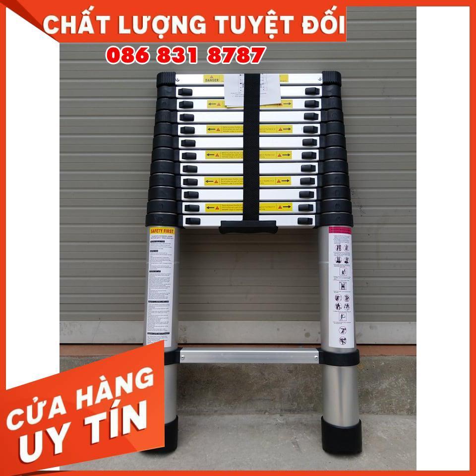 Thang Nhôm Rút Đơn 3M8 - BH 24 THÁNG