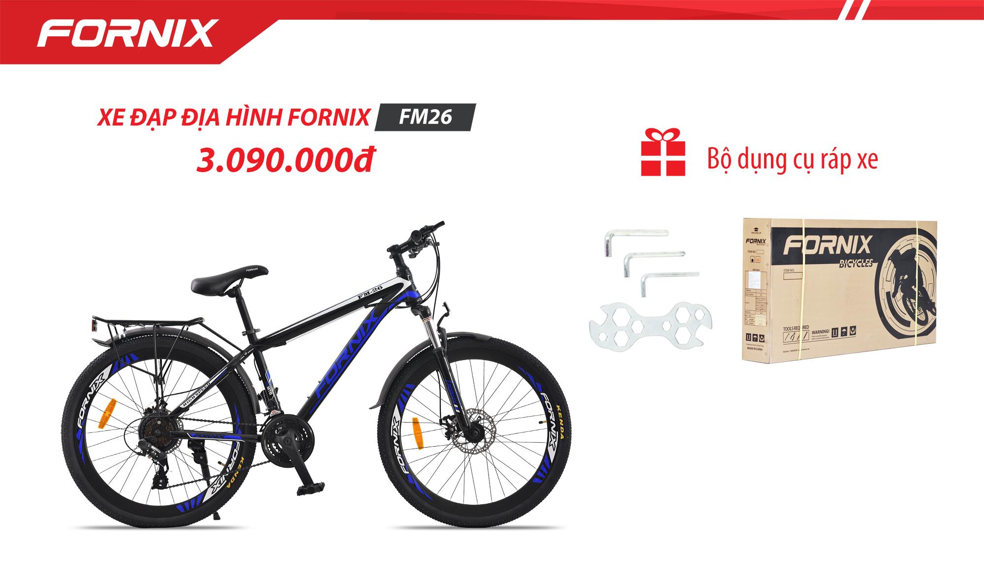 Xe đạp địa hình thể thao Fornix FM26 (Kèm bọ dụng cụ lắp ráp ) - Bảo hành 12 tháng