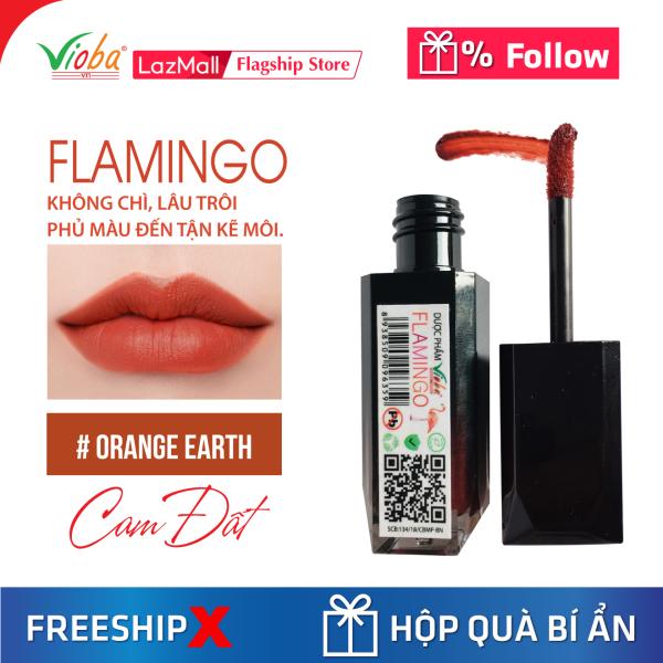 [Son kem Vioba] Không chì, dưỡng môi, mềm mịn, mướt, phù hợp với mọi loại da, an toàn cho bà bầu, những người có làn da nhạy cảm. Gồm 2 dòng son Flamingo và Elata giá rẻ