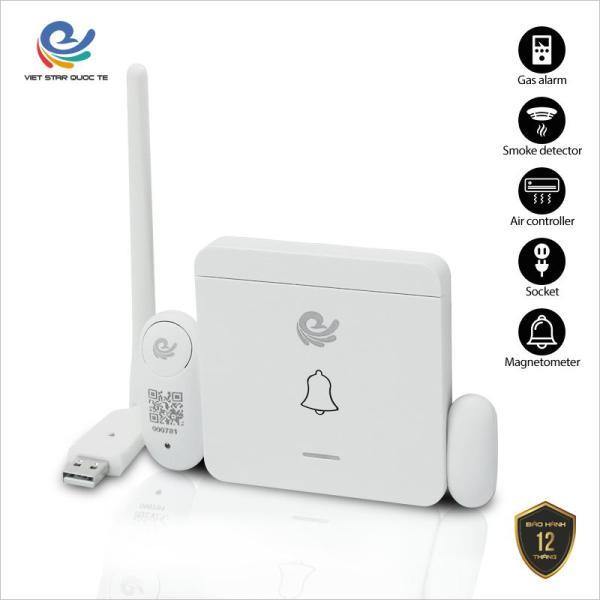 Bộ chuông cửa, bộ chuông cửa bảo vệ ngôi nhà, chuông C1 báo động, cảm biến cửa, kết nối camera thông qua cổng USB, đổi mới trong vòng 7 ngày. CC2022