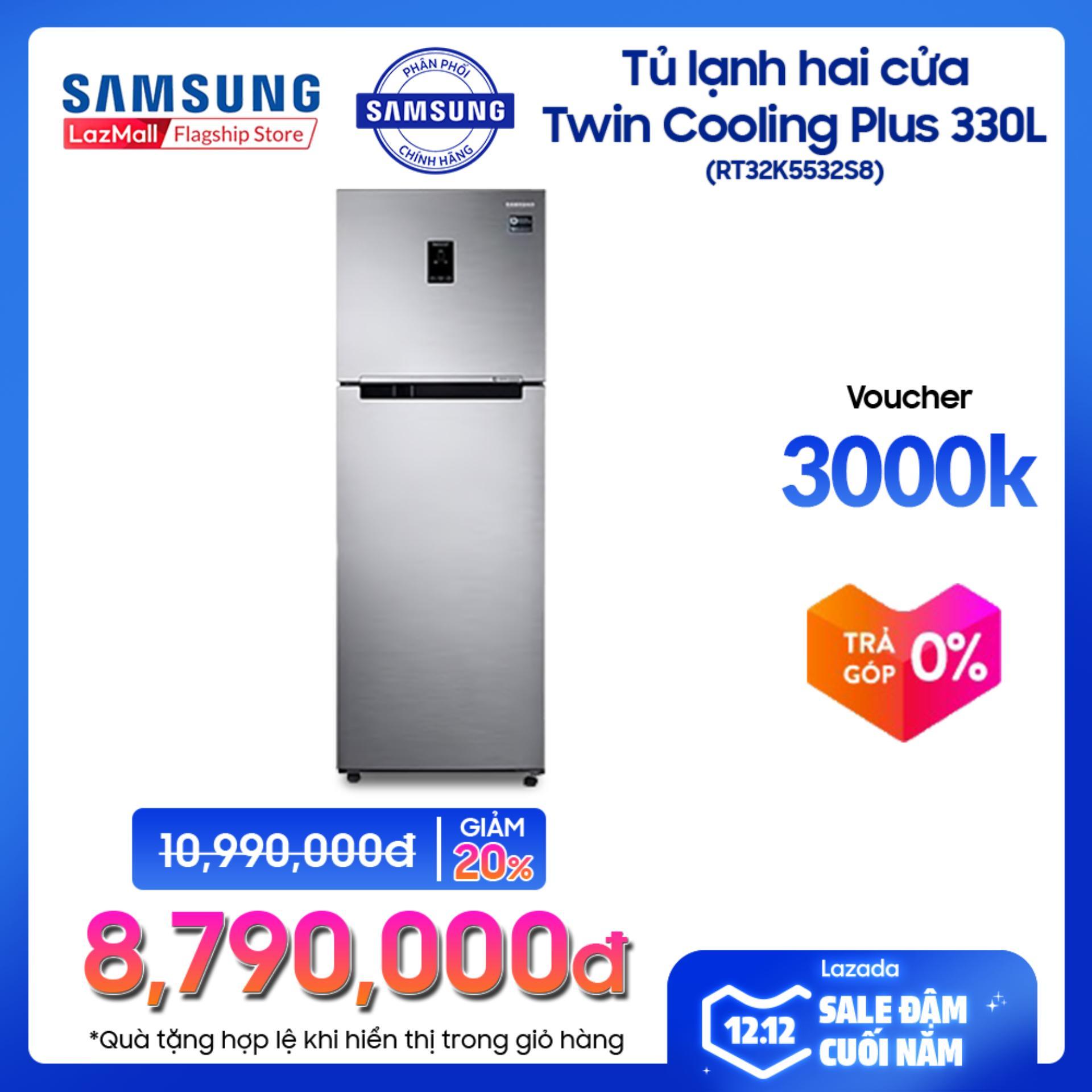 Deal Giảm Giá Tủ Lạnh Hai Cửa Twin Cooling Plus Samsung RT32K5532S8/SV 320L (Đen)- Công Nghệ Inverter - Hãng Phân Phối Chính Thức