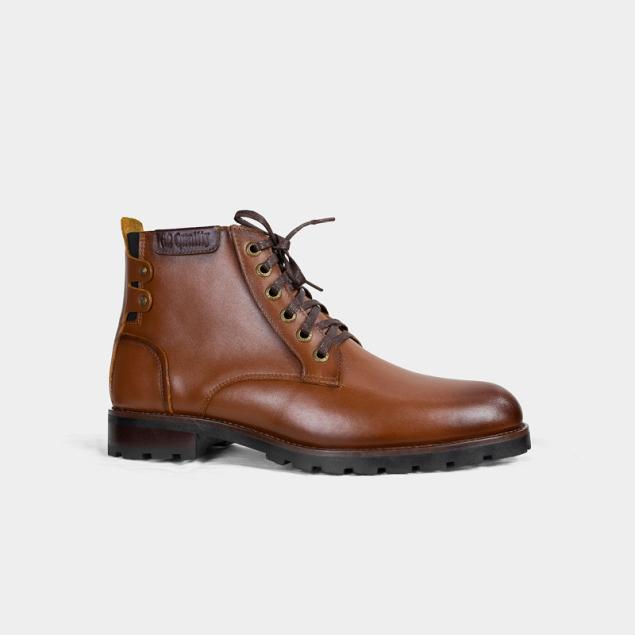 Giày boot nam cao cổ, da bò đốt không cháy, DR 86 nâu vàng, kiểu dáng giày đốc, tăng 5-7cm chiều cao, phù hợp cho thanh niên, trung niên - giày công sở - đẹp - cao cấp - bảo hành 24 tháng giá rẻ