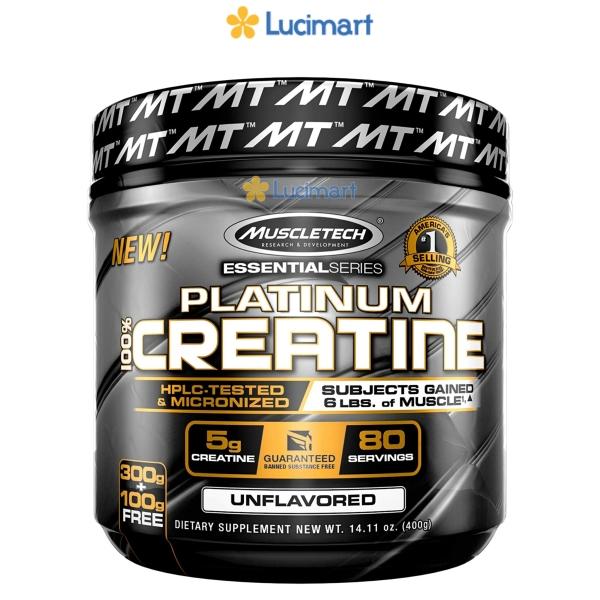 Platinum 100% Creatine hỗ trợ phát triển và tăng cường sức mạnh cơ bắp, Unflavored (USA)