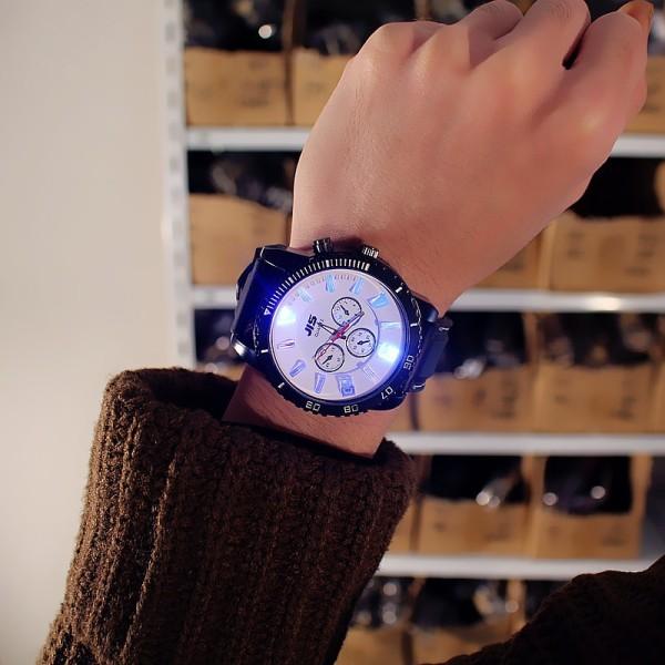 Nơi bán Đồng hồ nam nữ phát sáng cá tính JIS C1105 đèn led phát sáng ban đêm (tặng kèm pin)