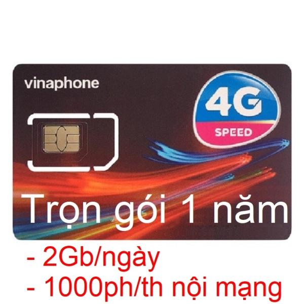 Sim 4G Vinaphone Trọn Gói 1 Năm (2Gb/ngày, miễn phí 1000 phút nội mạng/tháng, KM 12 tháng không cần nạp tiền gia hạn)
