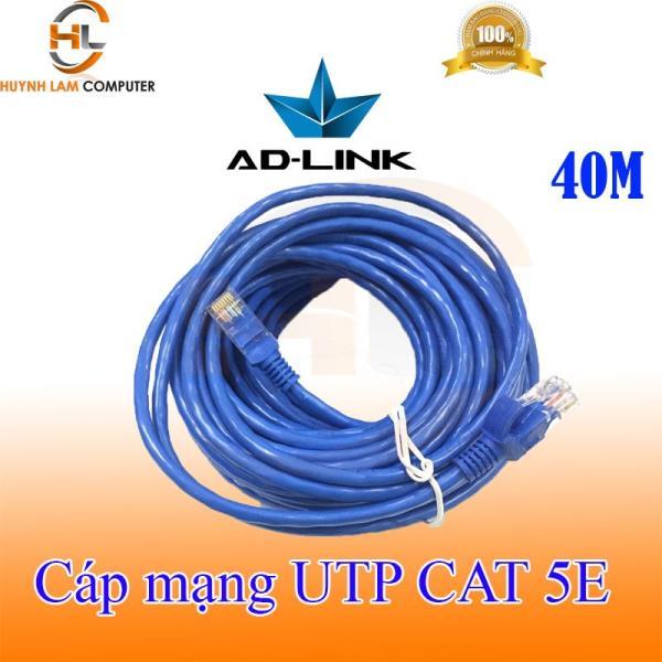 Bảng giá Cáp mạng 40m - Cáp mạng UTP CAT 5E AD-Link 40m bấm máy 2 đầu màu xanh hãng phân phối Phong Vũ