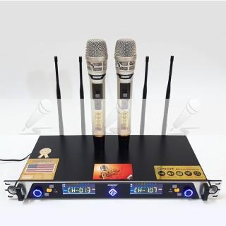 [TƯ VẤN] Micro karaoke không dây, Micro không dây Shure UGX21 - Phiên bản mới nhất của Shure - 4 Ăng ten chất lượng cao âm thanh chuyên nghiệp đảm bảo sẽ làm hài lòng nhu cầu của bạn. thumbnail