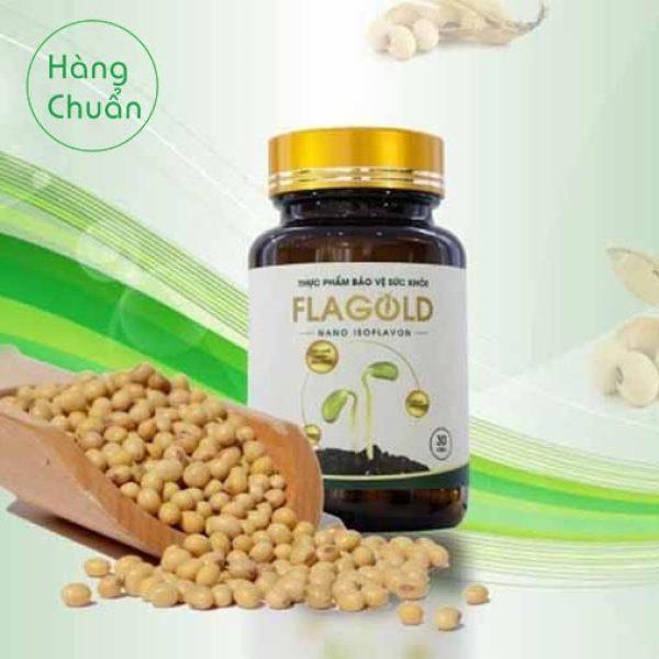 Hàng Chuẩn - Tăng nội tiết tố nữ Flagold - Nano Mầm đậu nành từ thiên nhiên giá rẻ