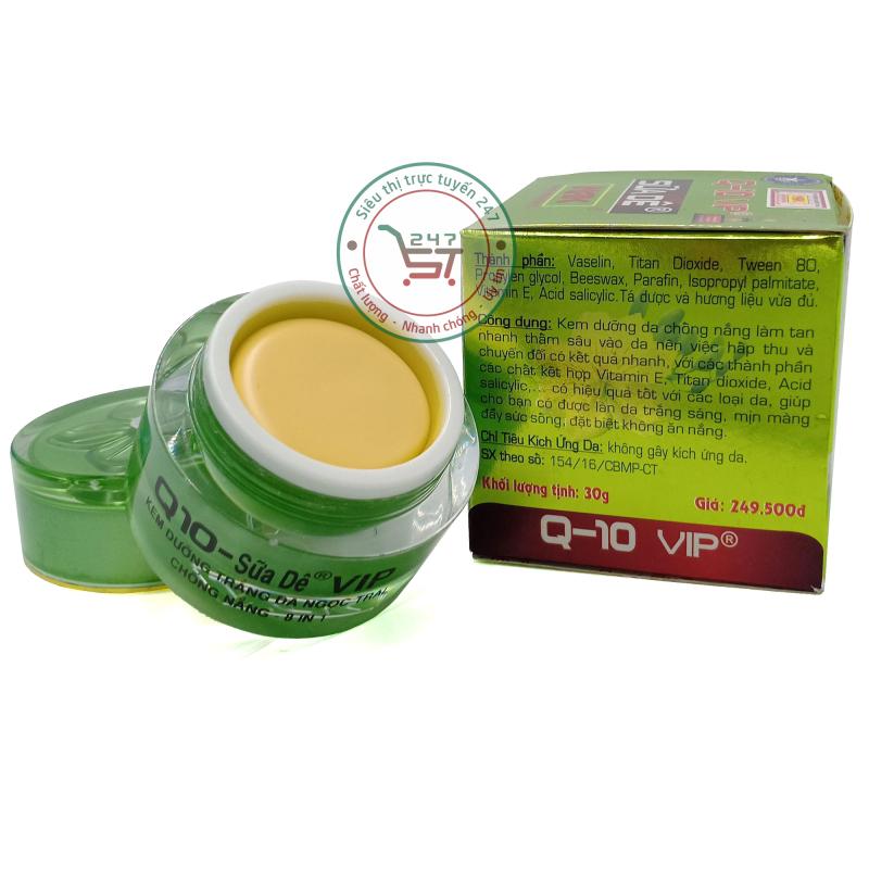 Kem dưỡng trắng da Q10 Chống nắng Ngọc trai 8in1 30g (Xanh)|Siêu thị trực tuyến 247 giá rẻ