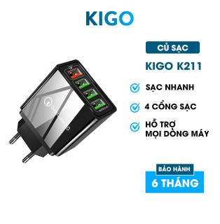 Củ sạc nhanh Piman chuẩn Quick Charge 3.0 18W - Củ sạc tích hợp mọi loại thiết bị và điện thoại KIGO P211 thumbnail