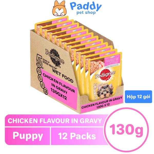 [Hộp 12 Gói] Pate Pedigree Cho Chó Con - Gà Nấu Sốt 130g