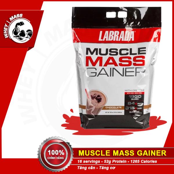 [ Quà ] Sữa Bột Tăng Cân Tăng Cơ Labrada Muscle Mass 12lbs 5.4kg cao cấp