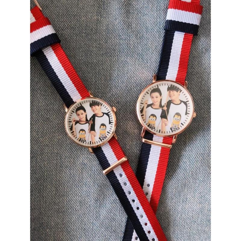 Đồng hồ thời trang nam nữ In hình theo yêu cầu MS335